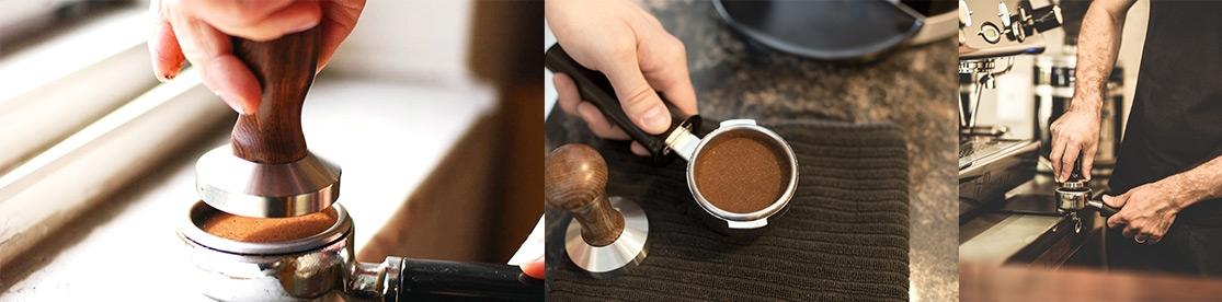 pressatura del caffe