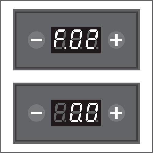 Um das automatische Aufwecken einzustellen, das Menü F.02 aufrufen und wählen, nach wie vielen Stunden sich die Maschine einschalten soll (max. 24 Stunden). Durch Bestätigung mit der Kaff eetaste geht die Maschine in den Standby- Modus