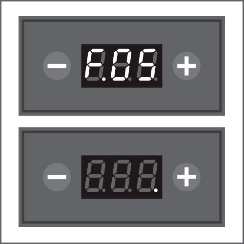 Um den Zeitpunkt (max. 2 Stunden) für die automatische Abschaltung zu deaktivieren oder zu ändern, das Menü F.05 aufrufen