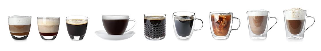 Getränken auf Kaffee- und Milchbasis