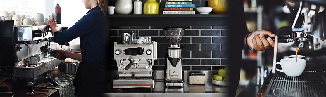 Die Kaffeemaschinen haben ein schönes Design
